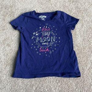 Purple Love you to the Moon Tee 18-24